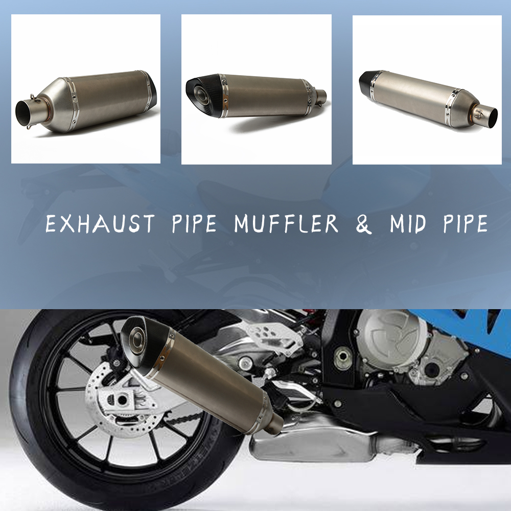 36 51mm Universal motorcycle Exhaust Muffler Pipe For kawasaki z 900 Z 700 Z 1000 exhaust Honda
