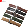 26mm Vintage Horse Crazy Leather Strap Assolutament Watch Band For PAM Garmin Fenix3 Leather Watch Strap Watch 5 Color