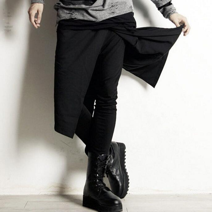 Spring Casual-Pants Men's New-Fashion HOT 27-44 And with Fake Two-Pieces of Personality