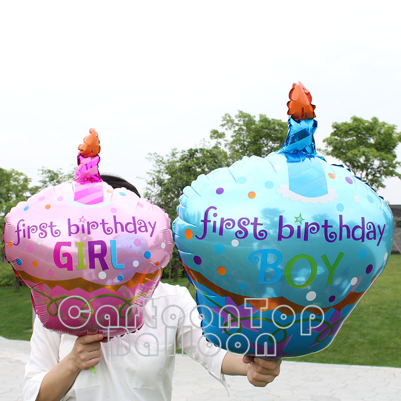 20pcs/lot 38inch Baby Birthday balloons Cake foil balloon baby girl/boy one year