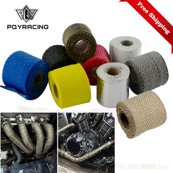 50mm 1Meter Car Motorcycle Exhaust Header Pipe Insulation Heat Wrap Tape 8 Colors Available 2019 NEW Hot Sales 2inch PQY1901