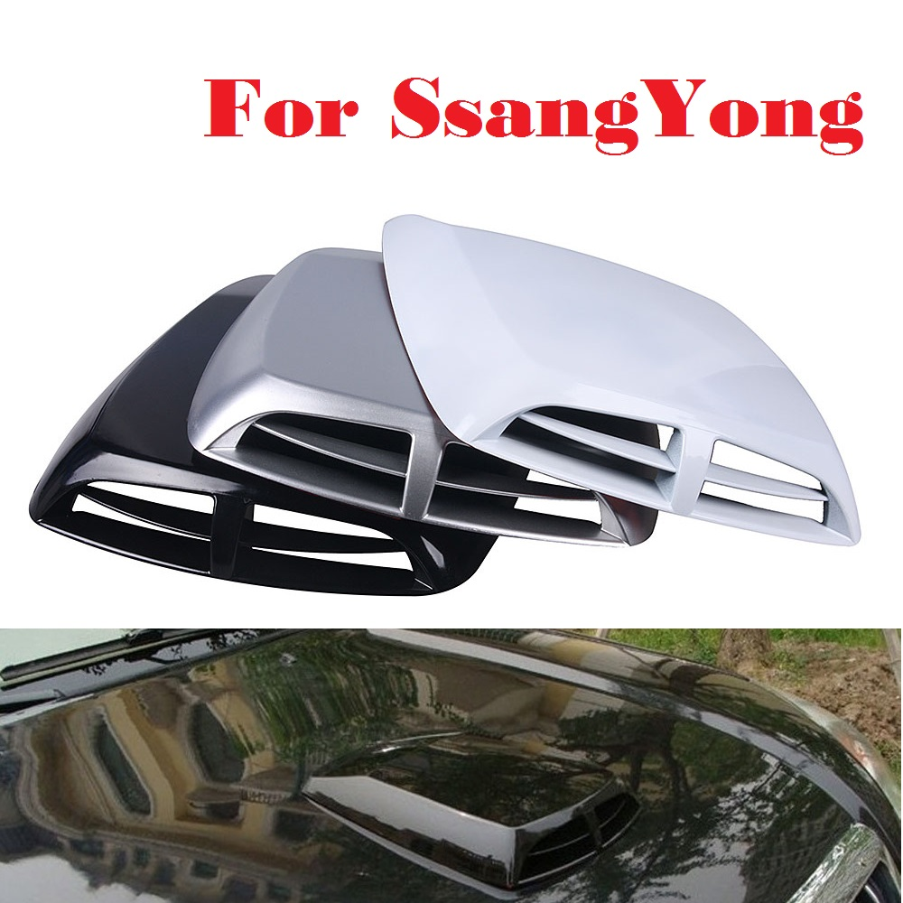 Auto Wind Mesh Intake Scoop Turbo Bonnet Vent Cover Hood For <font><b>SsangYong</b></font> Actyon Chairman Korando Kyron Musso Nomad Rexton <font><b>Tivoli</b></font> image