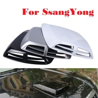 Auto Wind Mesh Intake Scoop Turbo Bonnet Vent Cover Hood For SsangYong Actyon Chairman Korando Kyron