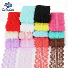5 Yard 45mm Colorful Lace Ribbon DIY Embroidered Net Lace Trims Fabric Handmade DIY Sewing Garment Accessories Supplies(China)