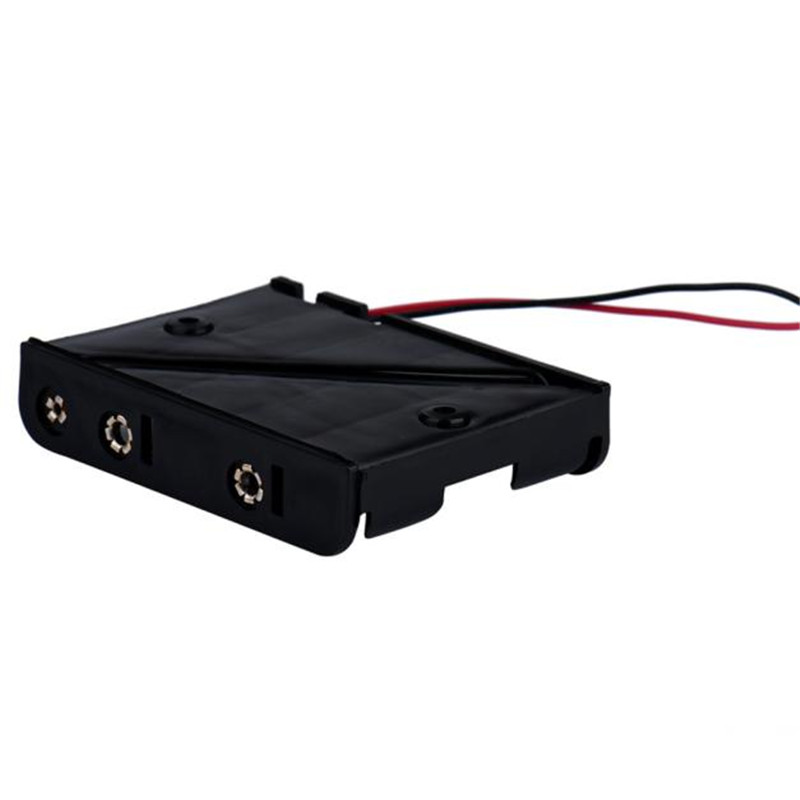 Battery Case Holder Box Holder For 5 x AA Black With Wire Leads ...