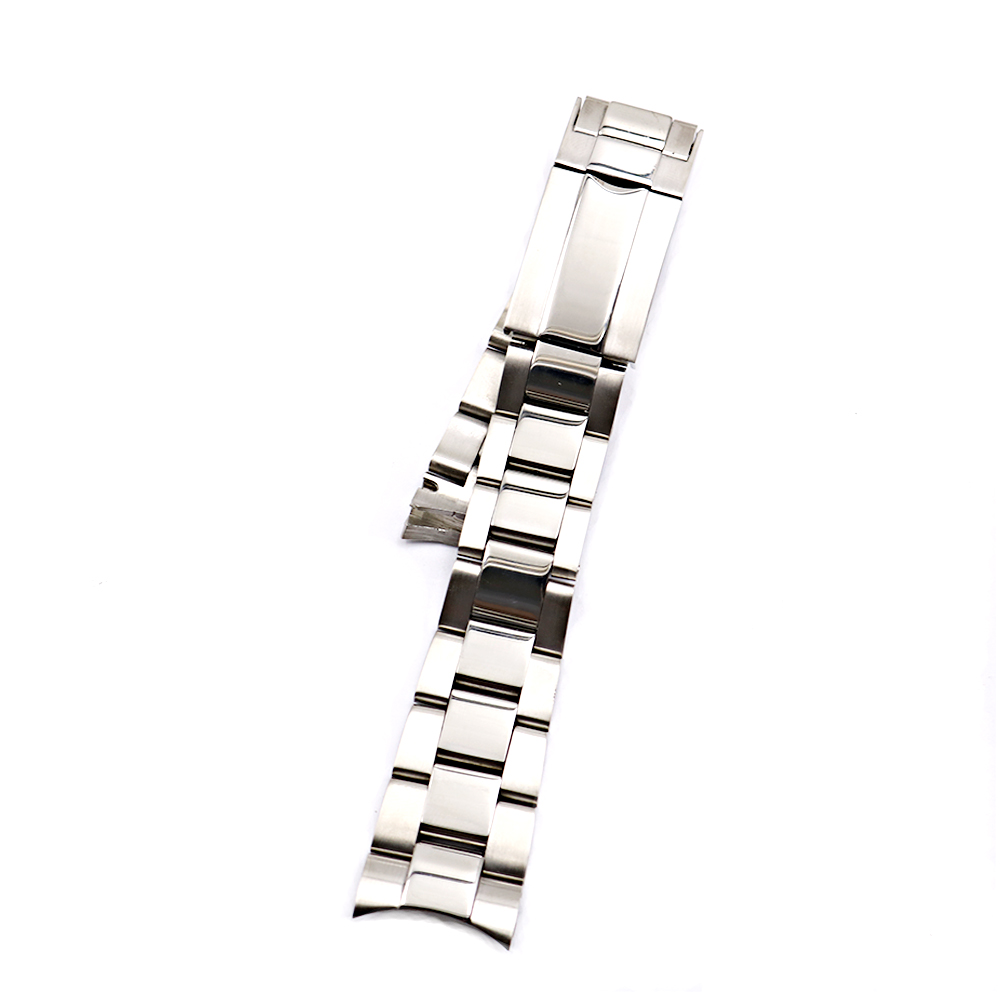 Image 3 - CARLYWET 20 21mm Silver Middle Polished 316L Solid Stainless Steel Watch Band Belt Strap Bracelets For Submariner GMT-in Watchbands from Watches