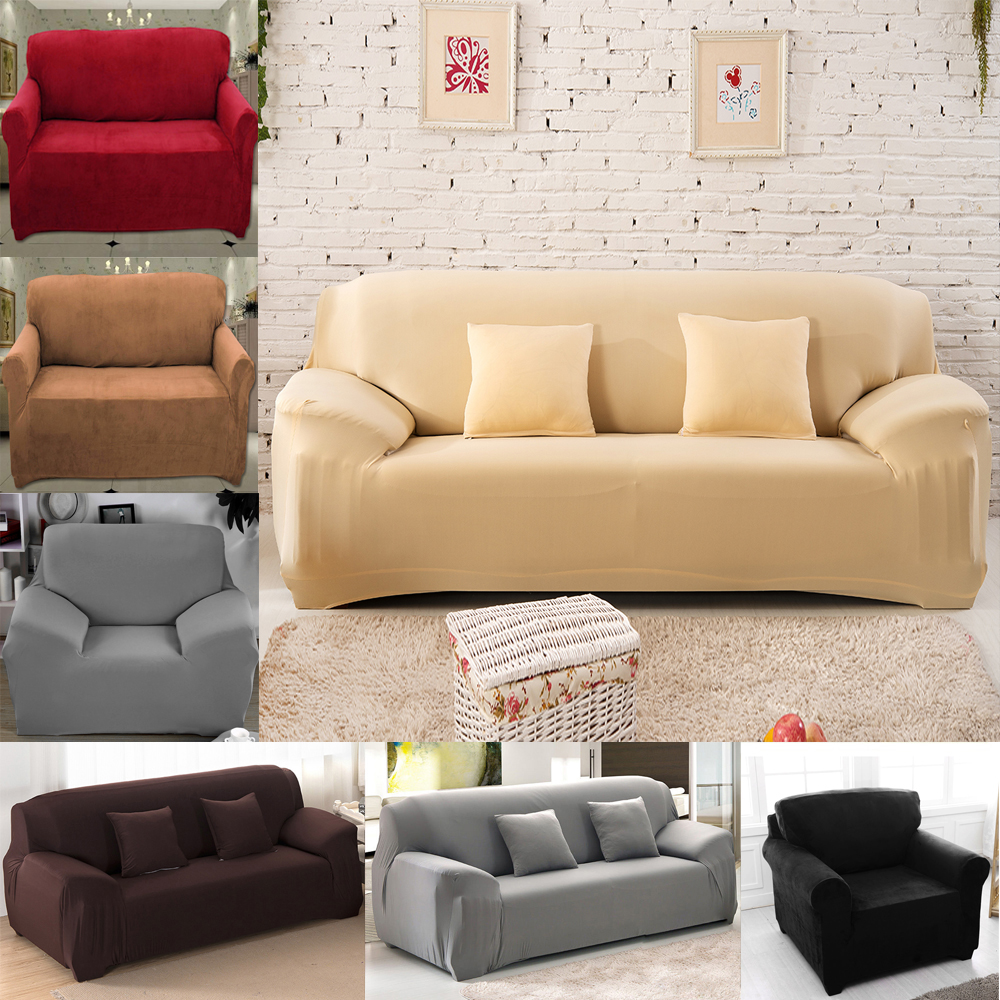 Slipcover Furniture Living Room: 1/2/3/4 Seater Elastic Sofa Cover Sofa Slipcovers Cheap