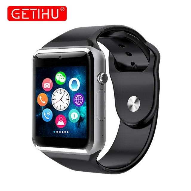 261b3929a7b GETIHU A1 Relógio Inteligente Bluetooth Smartwatch Pulso Digital Sport  Watch Relógio Telefone Do Cartão SIM Com