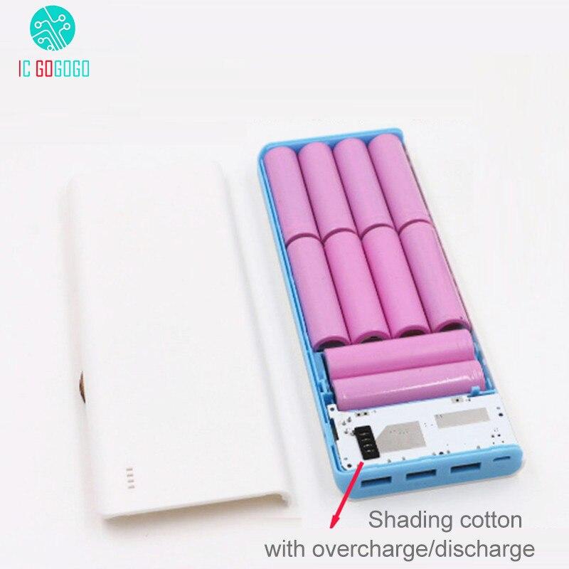 5 в 2 а 2,1 а 10*18650 Мобильный банк питания DIY наборы 3 USB Банк питания зарядное устройство модуль печатной платы + 10S корпус батареи|case case|kit diykit kits | АлиЭкспресс