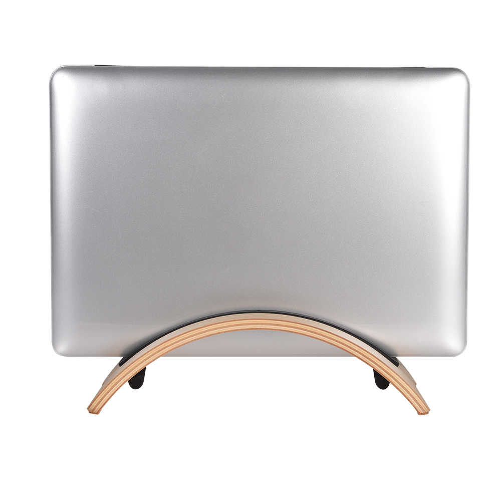 SAMDI 2018 Natural Original De Madeira Simples Vertical Desktop Stand Titular de Exibição Stander para Apple Macbook Air