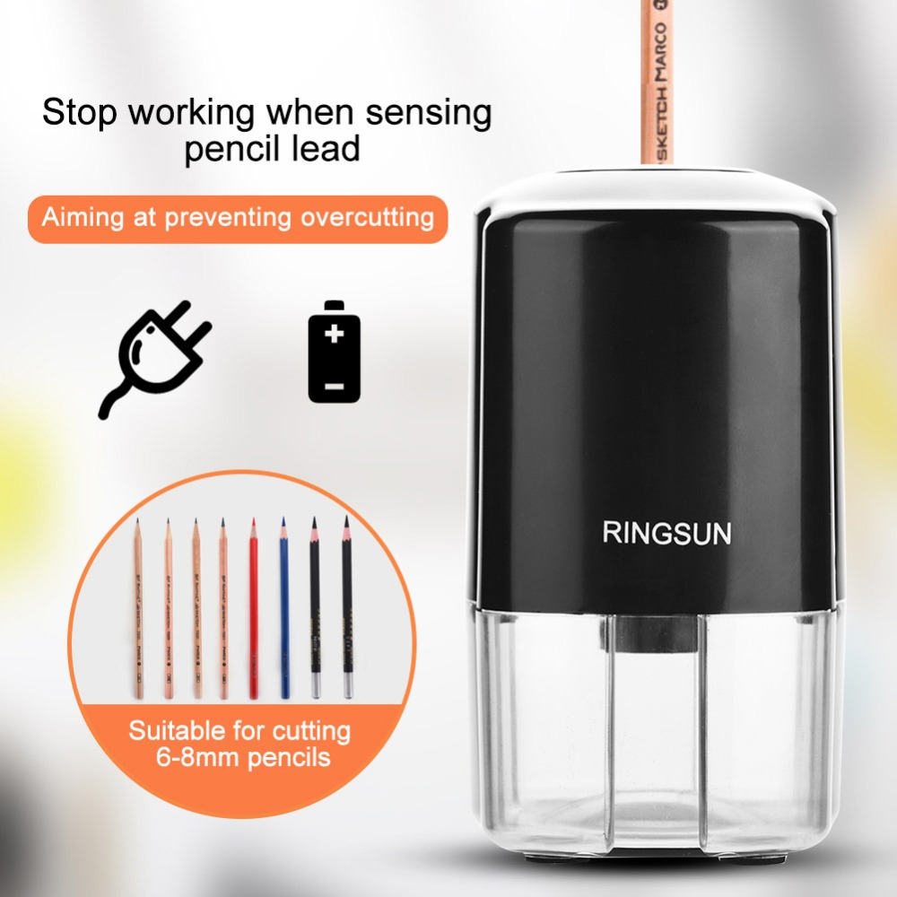 Automatic Electric Single Hole Pencil Sharpener School Office Stationery for US Plug 110-240V electric pencil sharpener automatic pencil sharpener single hole for 6 8mm durable for artist supplies school office stationery