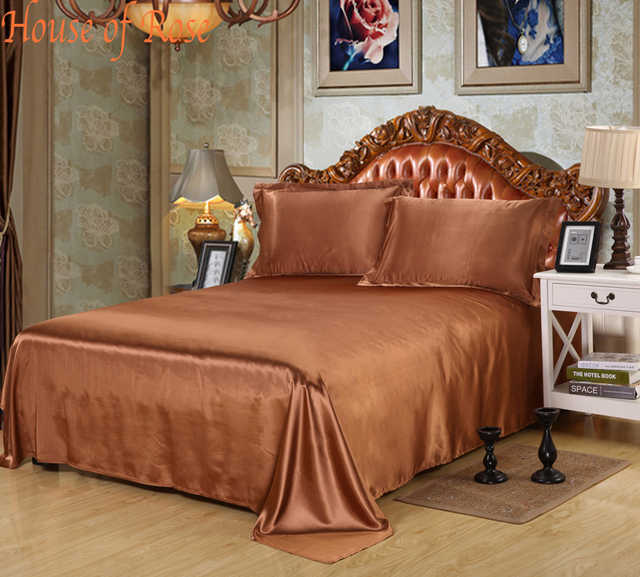 Elegant 2017 Bed Sheet 30% Mulberry Silk Bedsheets King/Queen/Full/Twin Size
