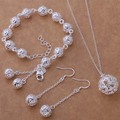 AS226 Hot 925 sterling  silver Jewelry Sets Earring 318 + Bracelet 267 + Necklace 338 /ajaajaha apnajgua