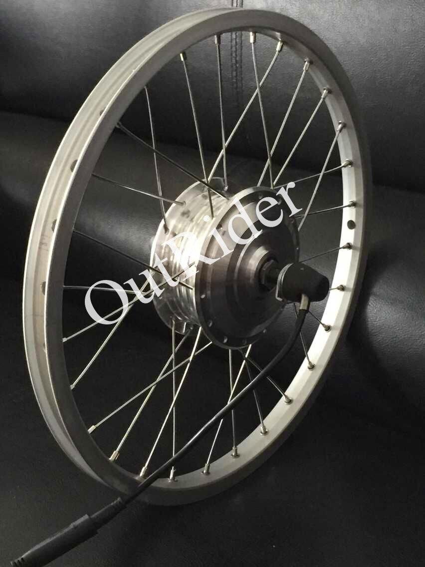 Moteur avant sans brosse 80mm de haute qualité de 36 V de Outrider pour le vélo de pli de Brompton/Dahon avec du CE/EN15194 approuvé