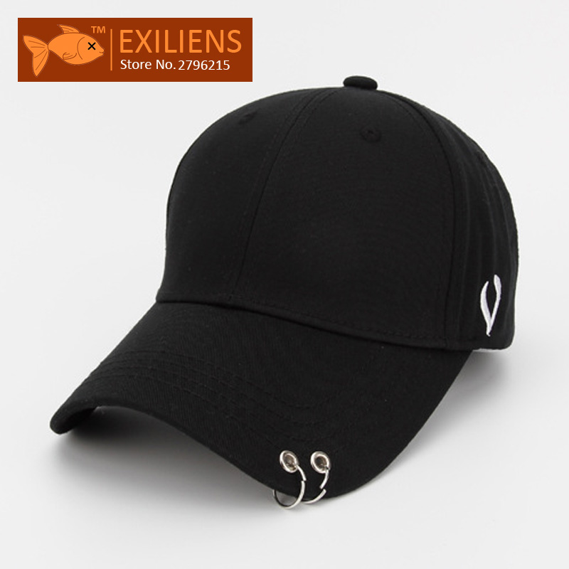 2017 New Fashion Brand Breathable V Ring Black Snapback Caps Strapback Baseball Cap Bboy Hip-hop Hats For Men Women Fitted Hat 2016 new new embroidered hold onto your friends casquette polos baseball cap strapback black white pink for men women cap