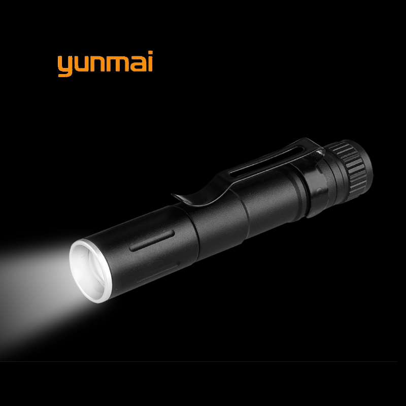 Купить с кэшбэком 2019 5PCS Portable Mini Penlight XPE LED Flashlight Zoomable Torch Pocket Light Waterproof Lantern AAA Led Night Fishing Light