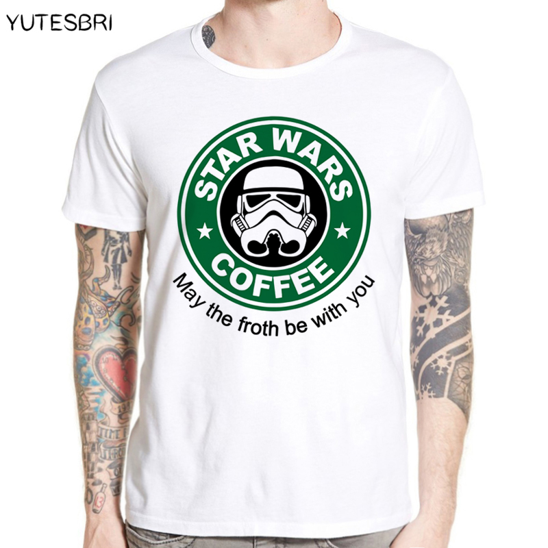 New Men Shirts Star Wars Dath Vader Camisetas Tee Black T Shirt Star Wars Coffee Casual Printing Game