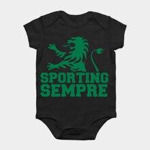 Bodysuits do bebê Macacão Bebê criança camiseta clube Camiseta Portugal Lisboa  Sporting Clube de Portugal fãs c0511ab8ff992