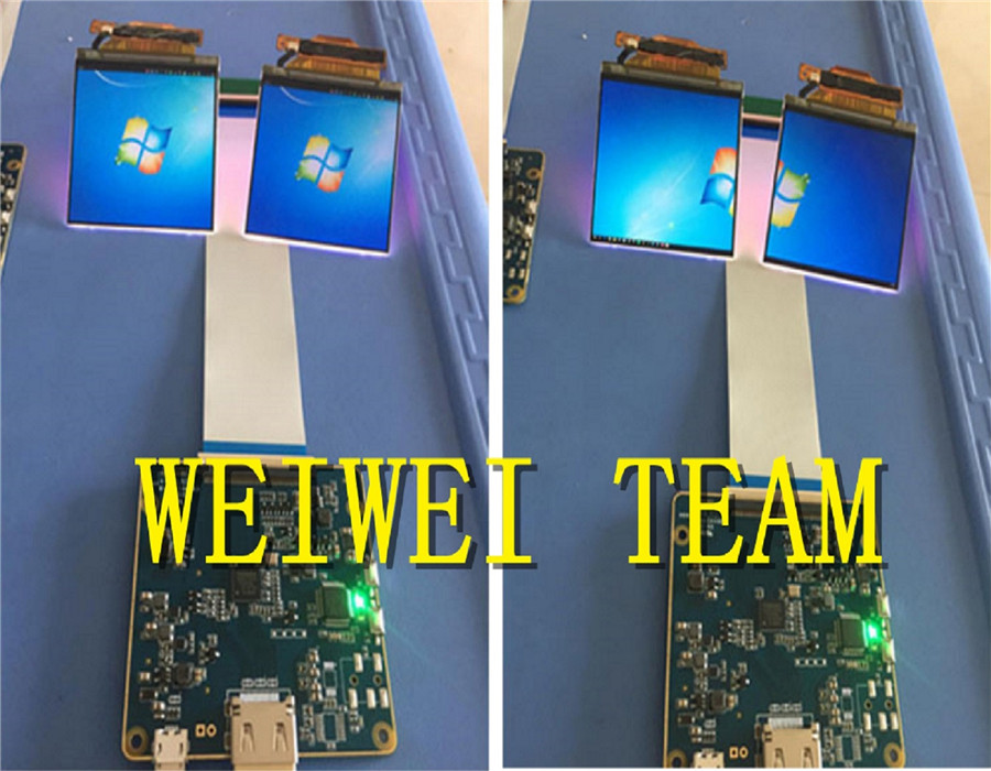 2.9 pouce 1440*1440 2 k double écran d'affichage à cristaux liquides avec HDMI à MIPI carte pilote pour 3D VR casque