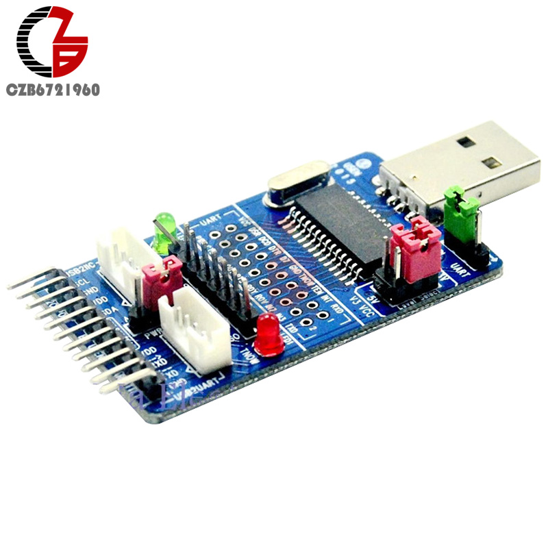 ALL IN 1 CH341A USB to SPI I2C IIC UART TTL ISP Serial Adapter Module EPP/MEM Converter For Serial Brush Debugging RS232 RS485