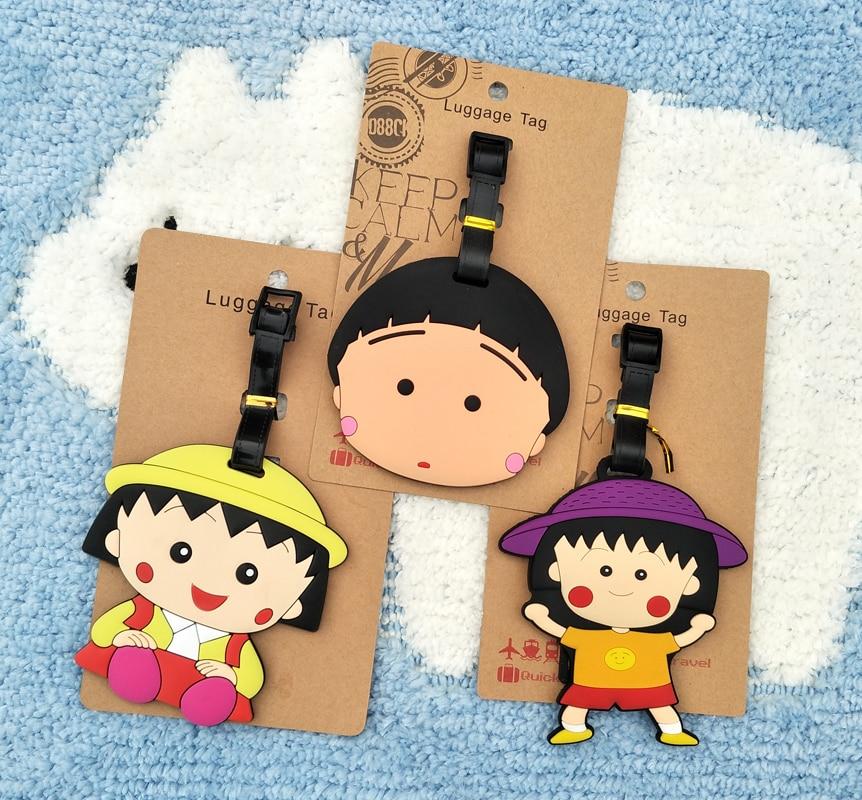 Figures Luggage Ornaments-Tags Decorative-Suitcase Action Anime Cartoon New Maruko PVC