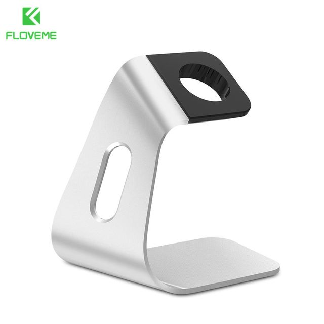 FLOVEME Metal Aluminum Charger Stand Holder for Apple Watch Bracket Charging Cradle Stand for Apple i Watch Charger Dock Station 2