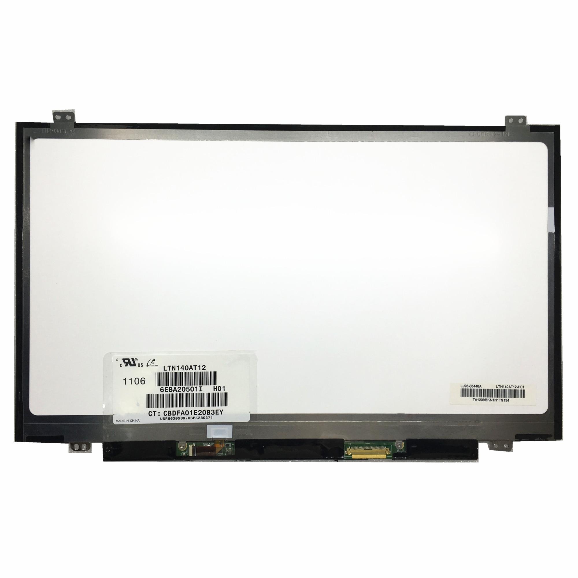 Darmowa wysyłka LTN140AT12 LTN140AT37 HB140WX1-100 N140BGE-L43 M140NWR2 R1 N140BGE-LA3 lcd do laptopa ekran LVDS 40pins 1366*768