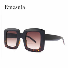 Emosnia – lunettes de soleil carrées Vintage unisexe, verres solaires, monture à Points, pour homme, dégradé, UV400, 2019