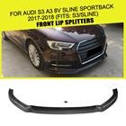 Carbon Fiber / FRP Car Front Bumper Lip Apron Protector for Audi S3 A3 8V SLINE Sportback Hatchback 2017 2018 JC Car-Styling
