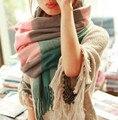 2016 Мода Шерстяной Шарф Зимой Женщины Испания Desigual Шарф Толстый Плед Бренда Платки и Шарфы для Женщин