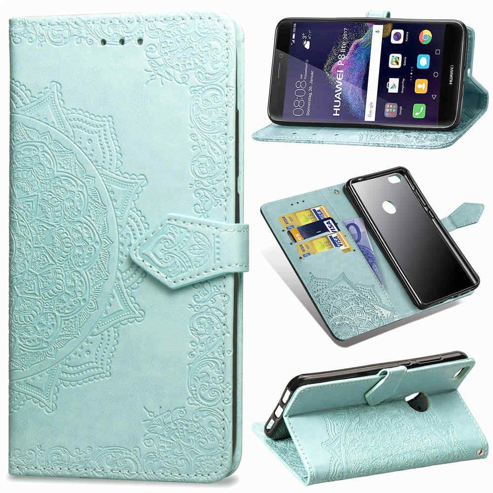 Honor 8 lite case Phone Flip Wallet Case For Huawei P8 LITE 2017 Cover Screen Protector For Honor 8 lite P8 LITE 2017 Full film