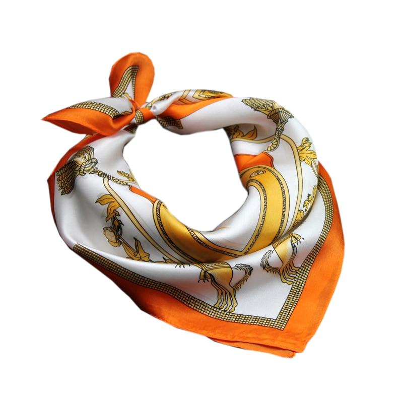 Wholesale High Custom Print Ladies Silk Satin Scarf For Travel HangZhou silk scarf 100% silk Satin square