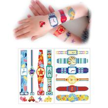 Child Tattoo Stickers Cute Cartoon Waterproof Non-toxic Arm Face Stickers Puffy Kids Stickers For Children Scrapbooking