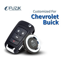 Fuzik Smart Keyless Go Entry Push Remote Button Start Car Alarm for Buick Excelle Encore Chevrolet Chevy Cruze Aveo Trax Captiva