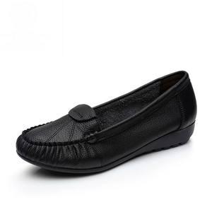 Image 3 - GKTINOO Plus Size 35 43 Vrouwen Flats Nieuwe Mode Echt Leer Platte Schoenen Vrouw Zachte Zool Enkele Schoenen Vrouwen schoenen