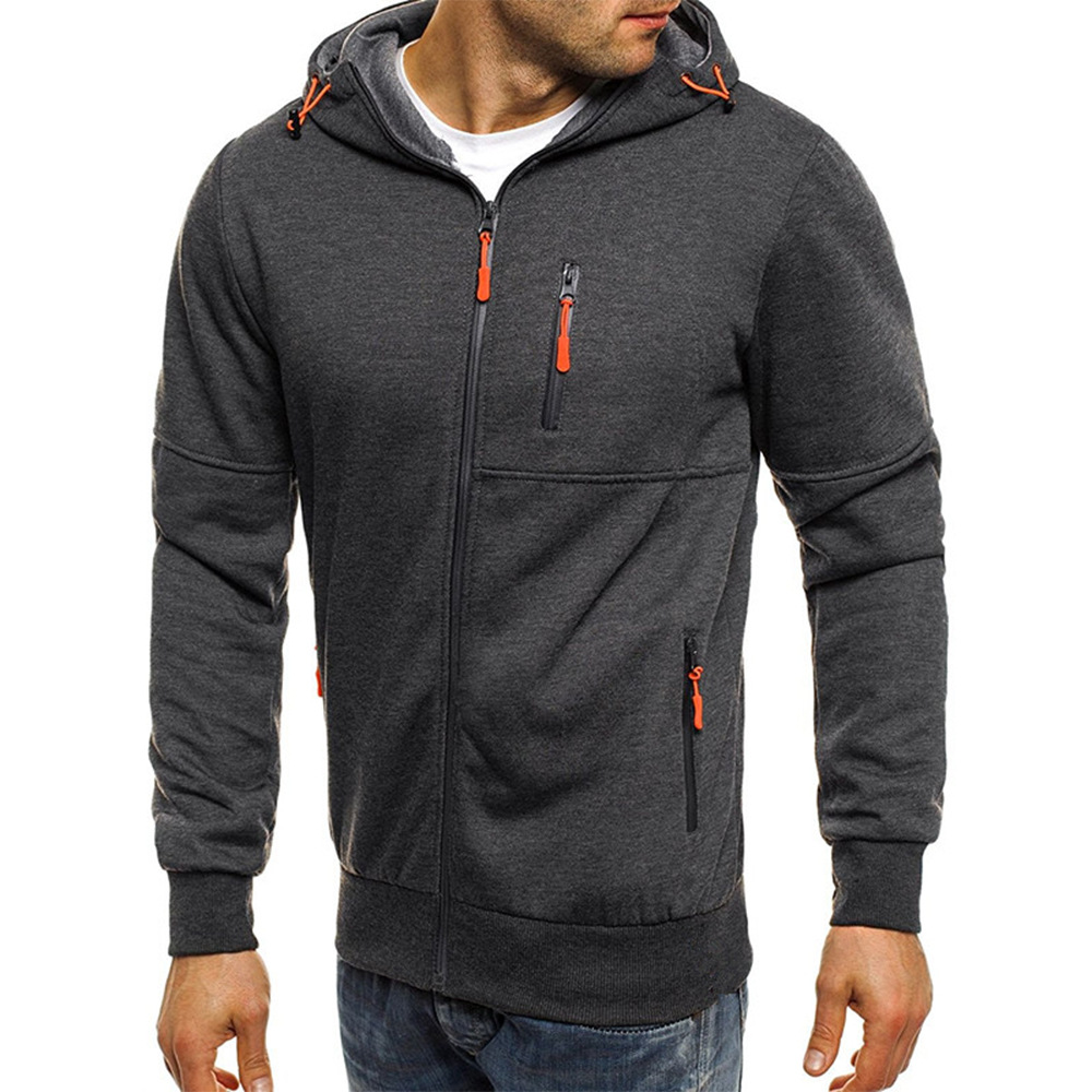 Hoodies Casual Sports Design Spring and Autumn Winter Long-sleeved Cardigan Hooded Men's Hoodie 19