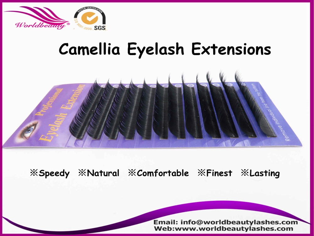 Free shipping new arrive mixed length 0 05 0 07 0 10 Camellia eyelash extension individual