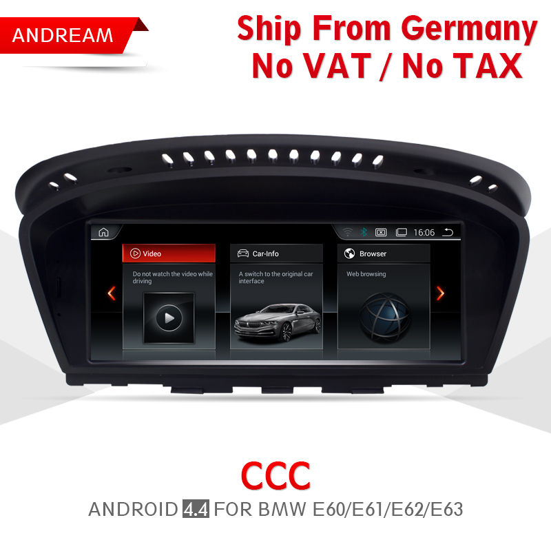 8.8 Android Screen Vehicle multimedia player For BMW Series 5 E60 E61 E62 gps navigation Wifi Germany Free Shipping EW963A-CCC