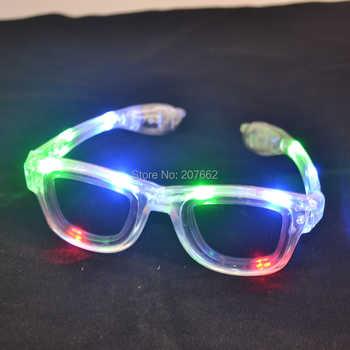 Envío Gratis 12 unids/lote luz led parpadeante gafas led EDM EDC Rave fiesta Bar gafas de sol accesorio
