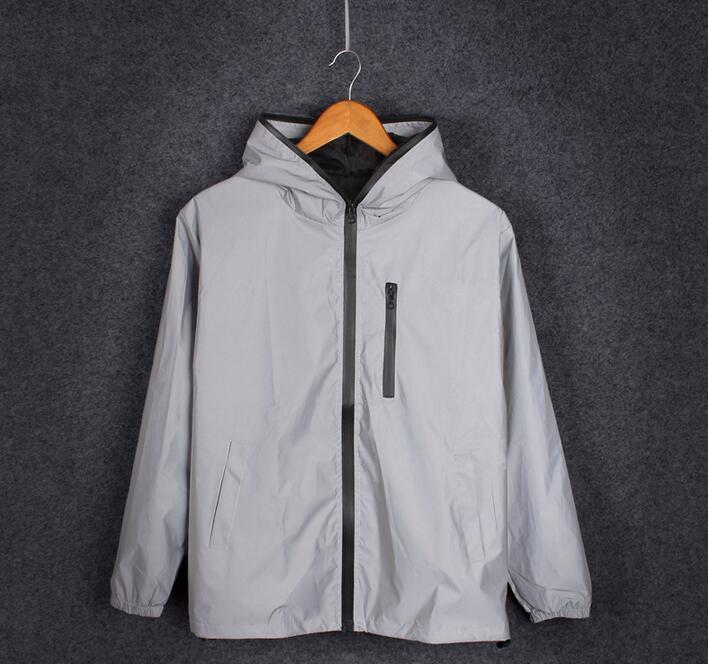 S-4XL primavera otoño hombres rompevientos 3 m chaqueta reflectante casual hip hop chaquetas y abrigos sin ningún logotipo manteau