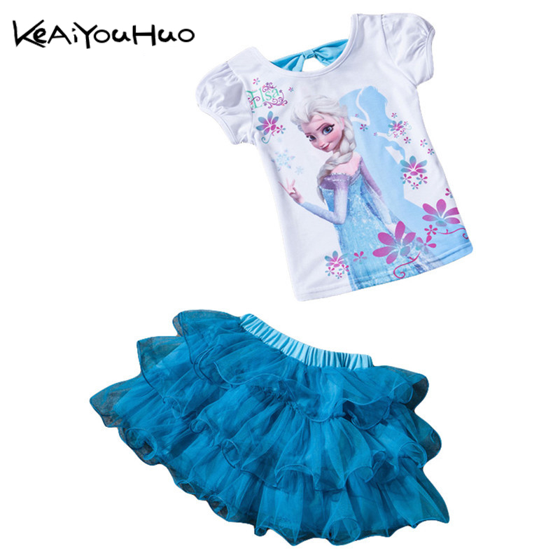 KEAIYOUHUO Summer skirt girl sets children's clothing suits