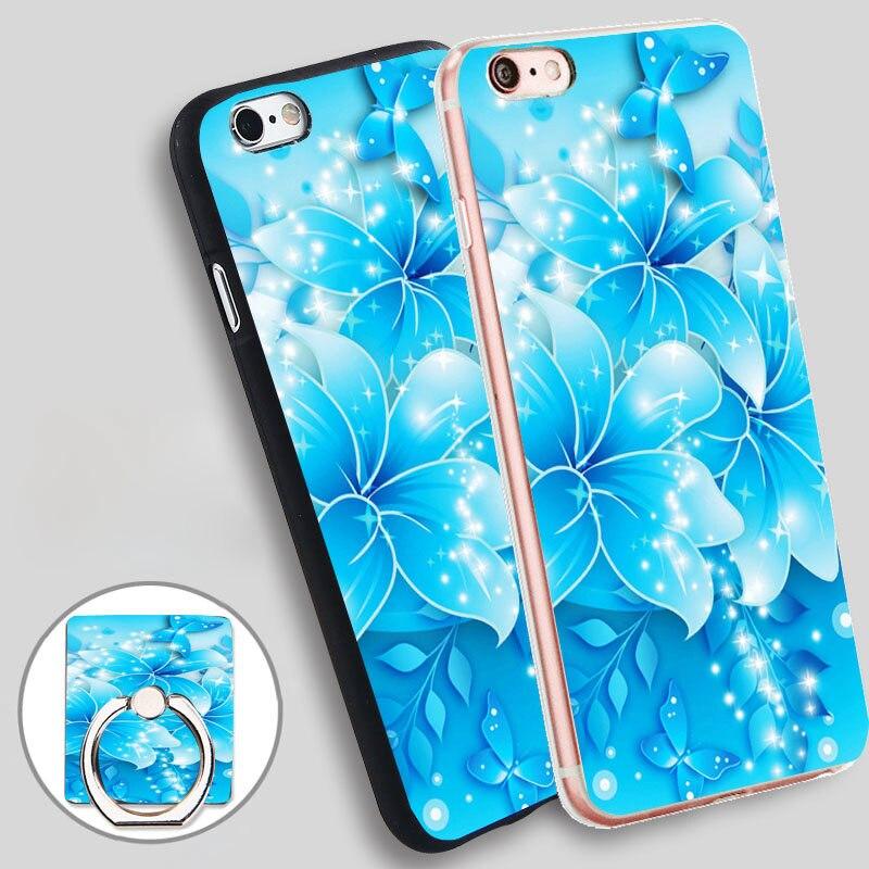 Fondos De Mariposas Azules Flower Soft TPU Silicone Phone Case Cover For  IPhone 5 SE 5S