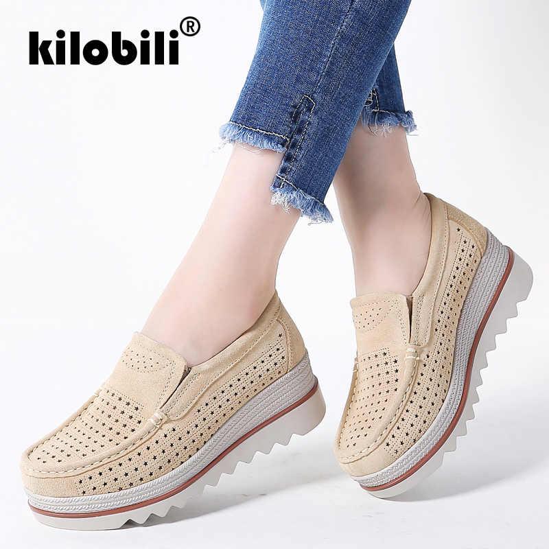 Kilobili Verano de 2019 las mujeres planos de las mujeres zapatos de  plataforma zapatillas de deporte afdf03e8e2d4