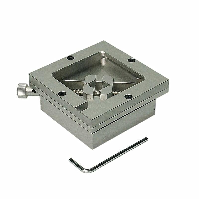 80mm 90mm Argent BGA Rebillage Station Pochoirs Modèle Mobilier Porte-Gabarit pour PCB Puce À Souder De Reprise De Réparation