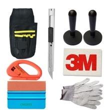 CNGZSY Window Film Wrap Tools Kit Bag Vinyl Cutter Art Knife Wool Squeegee Magnet Holders Nylon Gloves Vehicle Car Care Tool K21