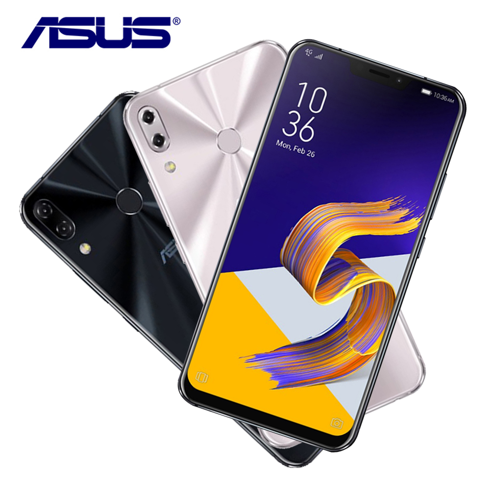 New Original ASUS ZenFone 5Z ZS620KL 6G RAM 64G ROM 6.2 Qualcomm Snapdragon 845 Android 8.0 Face ID Fast Charge Mobile Phone