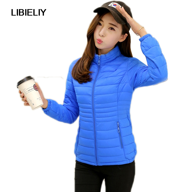 Nice Women Winter   Basic     Jacket   Light Candy Color Spring Coat Female Short Cotton Outerwear Jaqueta Feminina Plus Size 7XL