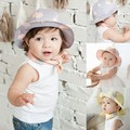 Wholesale Infant Sun Cap Polka Dot Summer Outdoor Baby Girl Sun Beach Bucket Hat