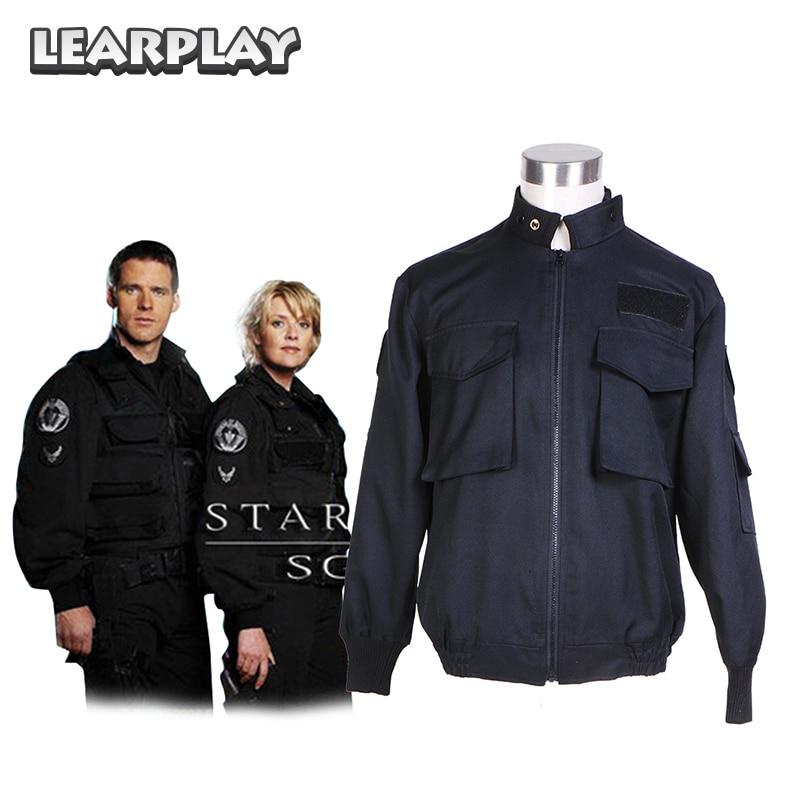 Stargate SG1  Jacket Cosplay Costumes Black Men