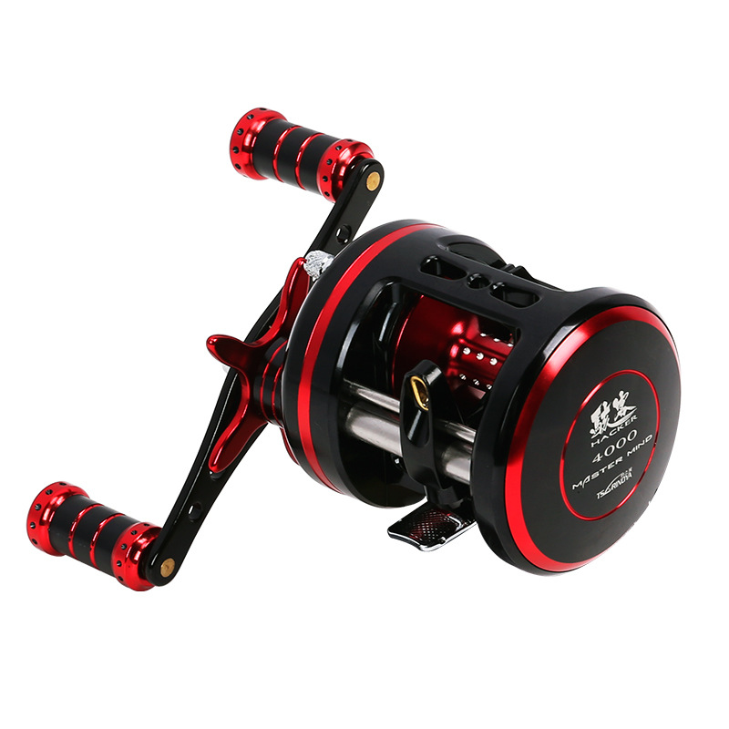Trulinoya Drum Fishing Reel Right Hand 9BB/5.3:1 Full Metal Cast Drum Wheel Bait Casting Fishing Reel Steering-wheel Peche new hacker 340g left hand 9bb high strength aluminum full metal cast drum wheel drum reel bait casting fishing reel